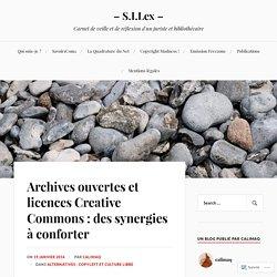 Archives ouvertes et licences Creative Commons : des synergies à conforter – – S.I.Lex –