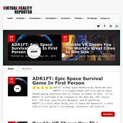 Virtual Reality Reporter - Virtual Reality Games