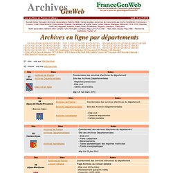 ArchivesGenWeb
