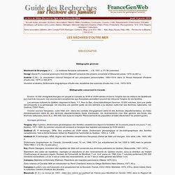 ArchivesGenWeb - Guide des recherches sur l'histoire des familles (Gildas Bernard)