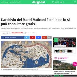 L'archivio dei Musei Vaticani è online e lo si può consultare gratis