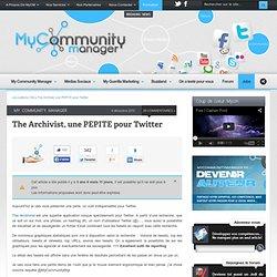 The Archivist , une PEPITE pour Twitter