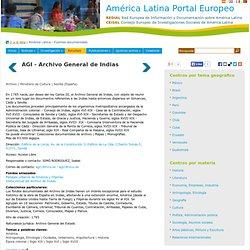 AGI - Archivo General de Indias