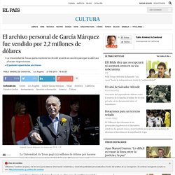 El archivo personal de García Márquez fue vendido por 2,2 millones de dólares