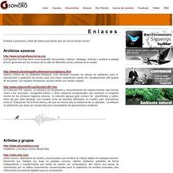 Archivo Sonoro - Enlaces