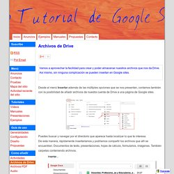 Archivos de Drive - Web Tutorial de Google Sites