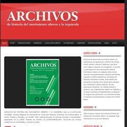 Revista Archivos de historia del movimiento obrero y la izquierda