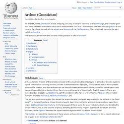 Archon (Gnosticism)