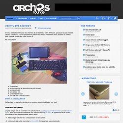 Ubuntu sur Archos 9