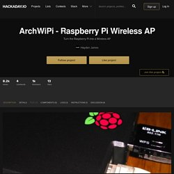 ArchWiPi - Raspberry Pi Wireless AP