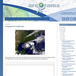 Cartographie de l'ouragan Isaac