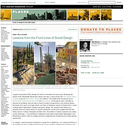Arcosanti, Rural Studio, YouthBuild: On the Front Lines of Social Design
