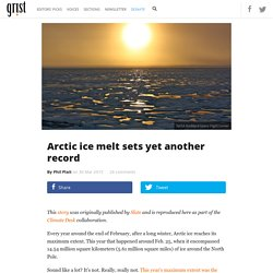 Arctic ice melt sets yet another record