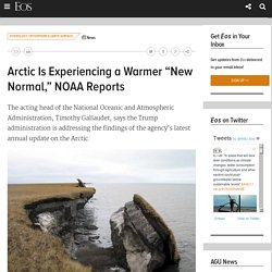 """Arctic Is Experiencing a Warmer """"New Normal,"""" NOAA Reports"""