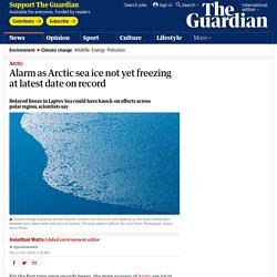 arctic sea ice not yet freezing