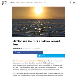 Arctic sea ice hits another record low