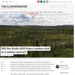 Will the Arctic shift from a carbon sink to a carbon source?