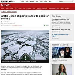 Arctic Ocean shipping routes 'to open for months'