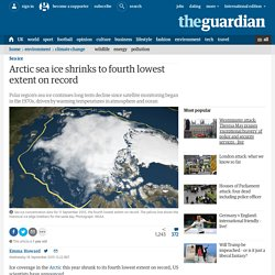 Arctic sea ice shrinks to fourth lowest extent on record