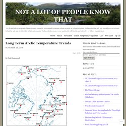 Long Term Arctic Temperature Trends