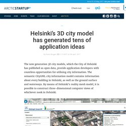 HELSINKI'S 3D CITY MODEL HAS GENERATED TENS OF APPLICATION IDEAS
