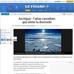 Arctique: l'atlas canadienqui sème la discorde