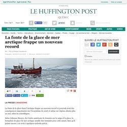 La fonte de la glace de mer arctique frappe un nouveau record