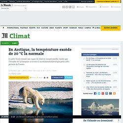 En Arctique, la température excède la normale de 20°C