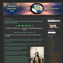 Transcript: Sitting Bull on Animal Totems on Heavenly Blessings May 6, 2013, Part 1/2