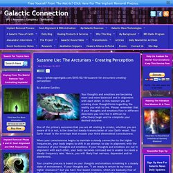 Suzanne Lie: The Arcturians – Creating Perception