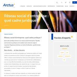 Blog Arctus - Réseau social d'entreprise : quel cadre juridique ?