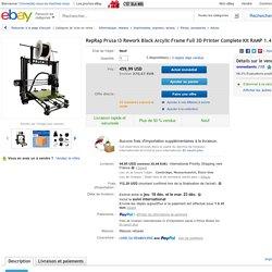Reprap Prusa I3 Rework Black Arcylic Frame Full 3D Printer Complete KIT Ramp 1 4