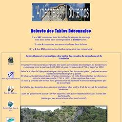 L'Ardèche au Fil du Temps-Relevés de Tables Décennales
