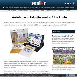 Ardoiz : une tablette senior à La Poste