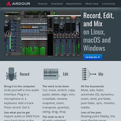 ardour | the new digital audio workstation
