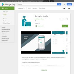 ArduController – Applications sur GooglePlay