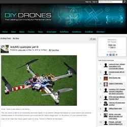 ArduIMU quadcopter part III