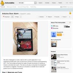 Arduino Door Alarm: 10 Steps (with Pictures)