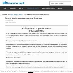 Curso de Arduino aprende a programar desde cero