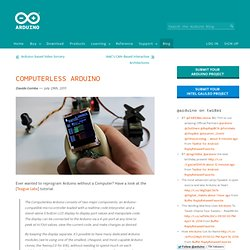 Blog » Blog Archive » Computerless Arduino