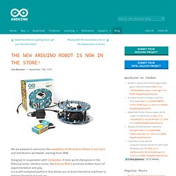 The new Arduino Robot is now in the store!