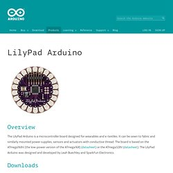 Arduino LilyPad for Clothing