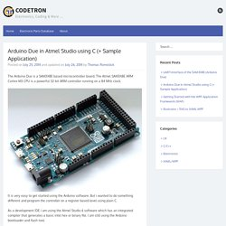Arduino Due in Atmel Studio using C - CodeTron