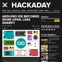 Arduino IDE Becomes More Open, Less Snarky