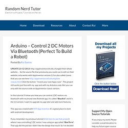 Arduino - Control 2 DC Motors Via Bluetooth
