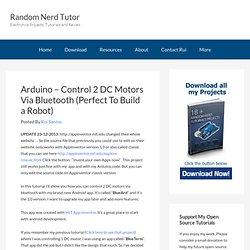 Arduino - Control 2 DC Motors Via Bluetooth