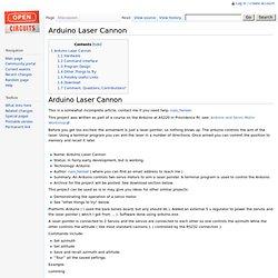Arduino Laser Cannon