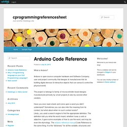 Arduino Code Reference