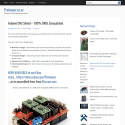 Arduino CNC Shield – 100% GRBL Compatable