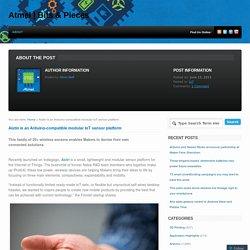 Aistin is an Arduino-compatible modular IoT sensor platform